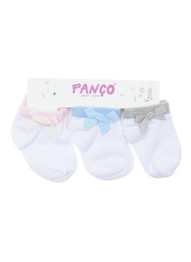 Panço Kız Bebek 3 lü Çorap 18236000194 Renksiz